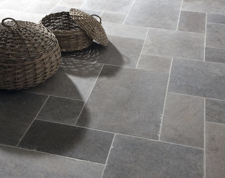 Clic London Grey Mix Tumbled Limestone Tiles Stone Mandarin Flooring