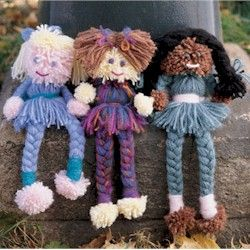 These adorable pom pom dolls make a wonderful keepsakes to be handed down from generation to generation.