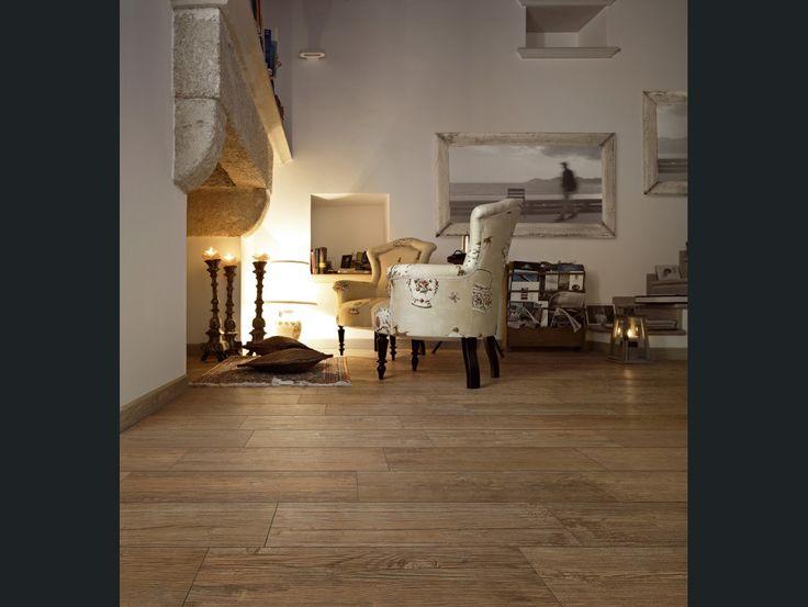 Diaporama : Réchauffez avec le carrelage aspect bois
