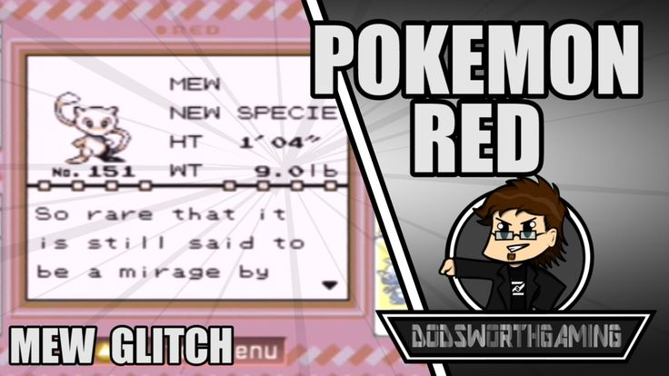 ALL 150 (151) POKEMON AND MEW GLITCH - Pokemon Red - Funny Moments and M...