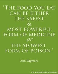 Great food quote from Ann Wigmore