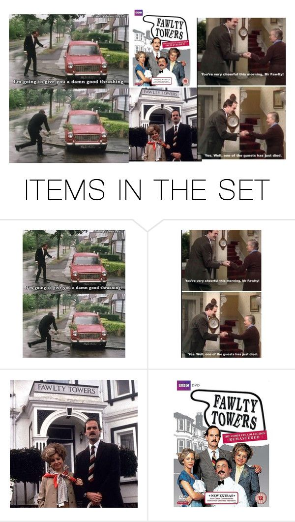 """Fawlty Towers"" by ripariandelight ❤ liked on Polyvore featuring art"