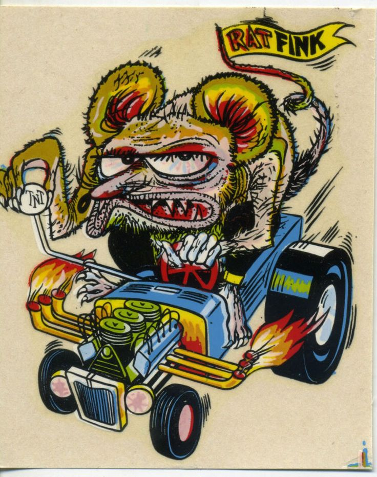 vtg impko water decal RAT FINK weird eeze hot rod monster drag race Roadster