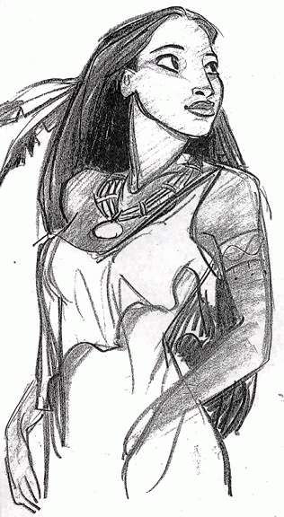 Early Pocahontas - Glen Keane - I recently heard that Glen QUIT DISNEY! I almost died. Not really.. But I did...