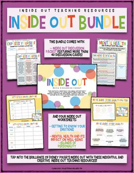 Tap into the brilliance of Disney Pixar's Inside Out (2015) as a tool for teaching students about mental health and well-being. This bundle includes fiveamazing products for any school counselor and/or health and physical education teacher wishing to empower students with vital knowledge and skills concerning mental and emotional health.ThisInside Out Bundleincludes:Inside OutDiscussionPacketMy Islands of PersonalityPosterGetting to Know My Emotions WorksheetExpress Yourself WorksheetMental…