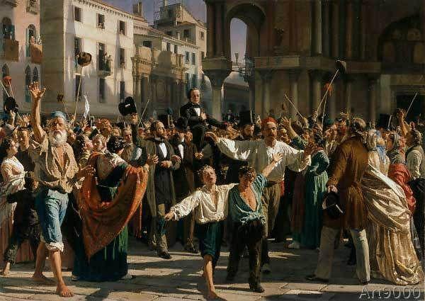 Napoleone Nani - Daniele Manin and Nicolò Tommaseo are liberated from imprisonment