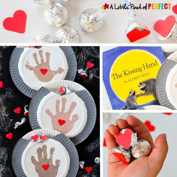 Handprint and Candy Paper Plate Craft inspired by a favorite children's book! This paper plate craft couldn't get any sweeter because it includes handprints made by your favorite kiddo, hearts, and chocolates that kids can share with those they love!