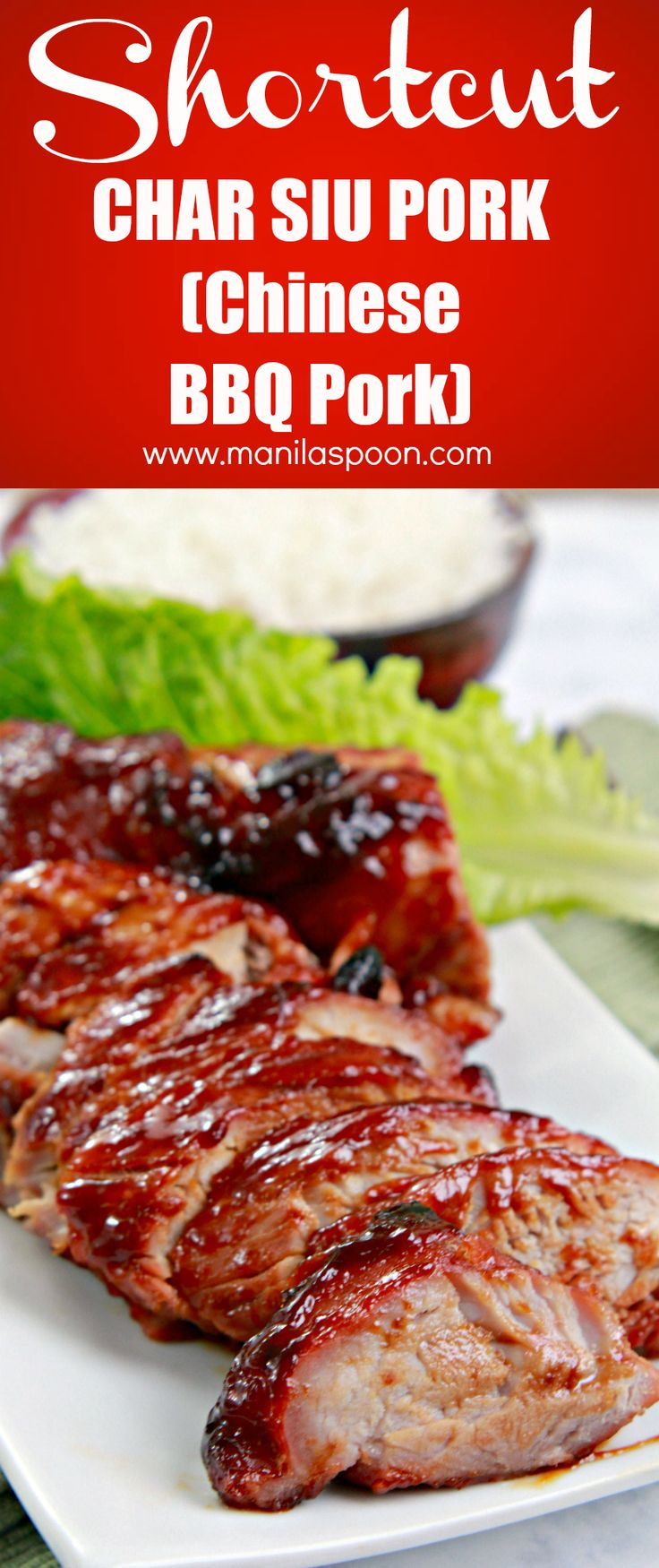 A quick and easy recipe for Chinese Barbecue Pork (Char Siu) using a combo of store-bought sauces so no extra work is required but the result is a delicious meat that comes out so tender and tasty!