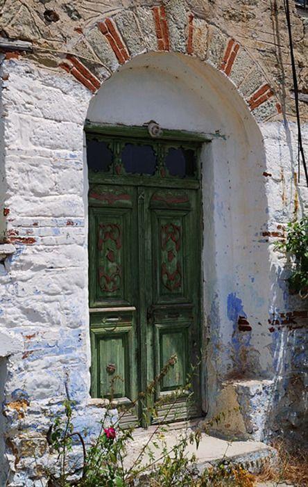petitpoulailler:    elladaa:Door in Polikerasos village - Kastoria;source: hellas-photo-gallery.gr