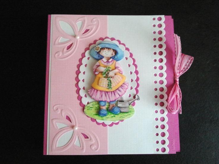 Happy birthday bookcard with snoesjes. 3d Snoesjes by Hetty Meeuwsen for Marianne Design.
