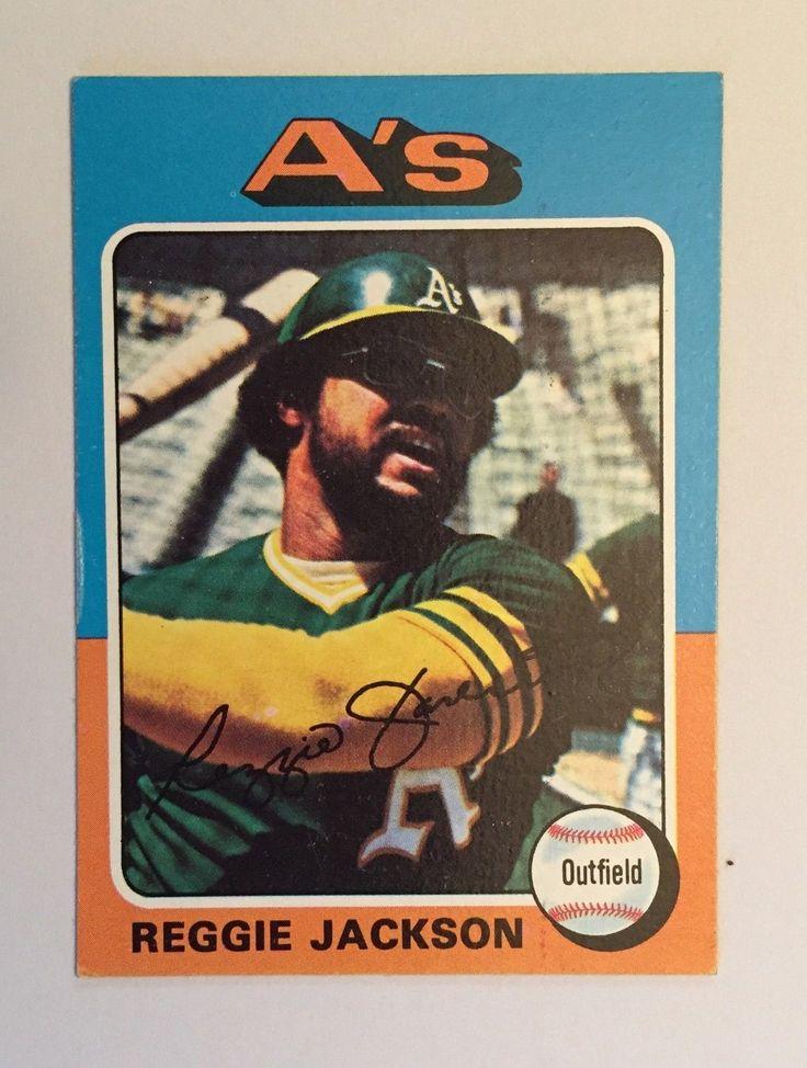 Topps 1975 Baseball card Reggie Jackson Oakland A s #300 HOF Vintage EX/NM cond