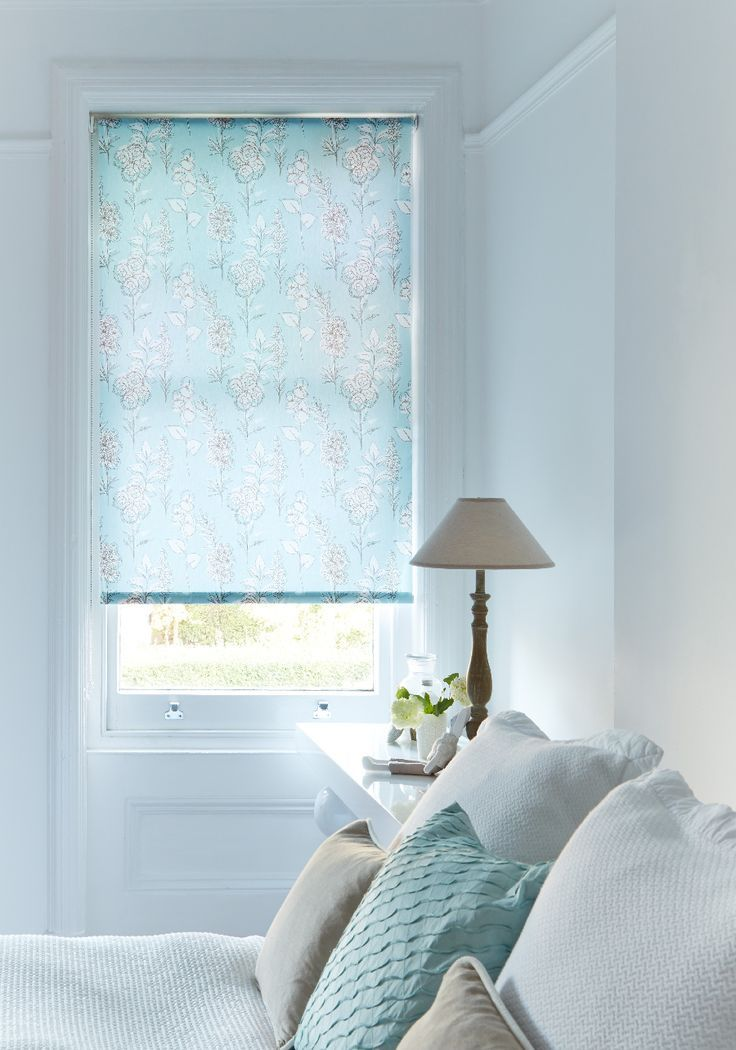 Our Fabulous Flowers Blue Roman Blind Will Keep Things