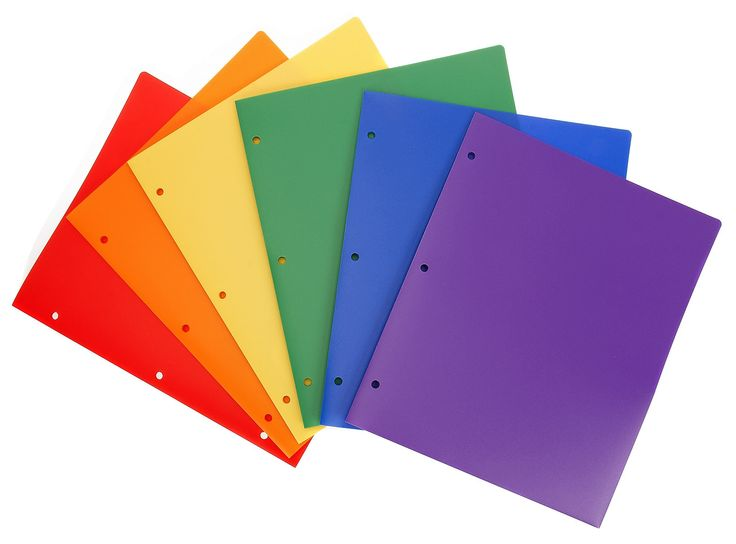 Heavy Duty Plastic Folder Assorted Pack of 6 Hole Punched  #WorkColorfully #Stemsfx