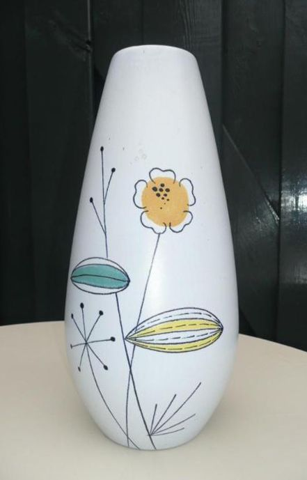 Flora (Gouda, Holland) , vase with decor Palma, 1959-1961