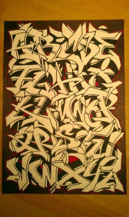 Graffiti alphabet artist: ?                                                                                                                                                                                 Mehr