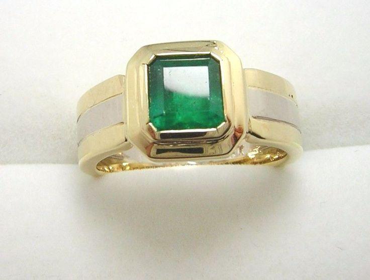 Colombian Emerald Ring Square Cut 1.00 Ct 18K Y Gold Size 8 US Fine Jewelry Muzo #HandmadeByCiCeRi #Solitaire #WeddingAnniversary