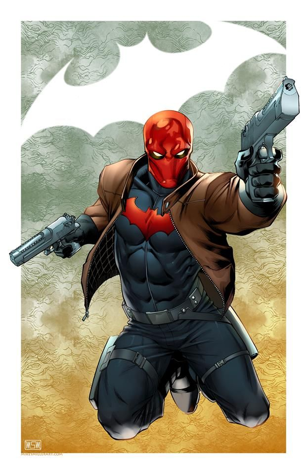 Red Hood by Mark S. Miller. The animated movie was good, if this is the same Red Hood (Robin) as in the film. I hated in the film where he refers to his weapon as an AK47. 9 out of 10 people wouldn't know what that was. Your grandmother could own an AK47 with the right permit.