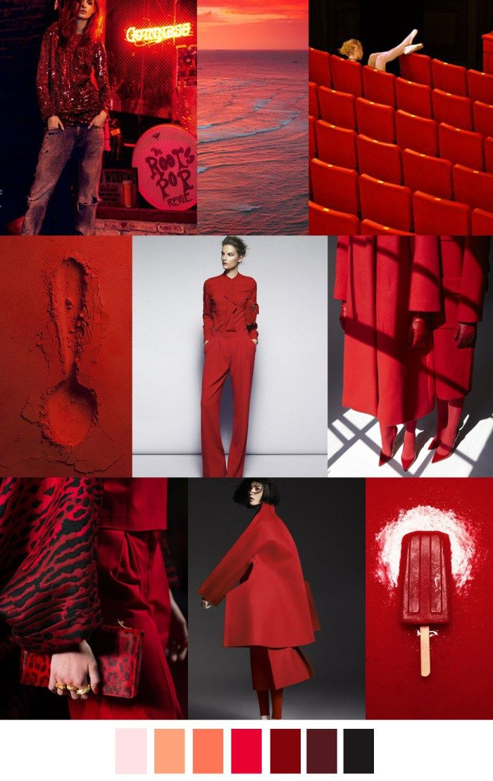 F/W 2017-2018 pattern & colors trends: GRENADINE COCKTAIL