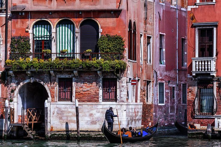 George Westermak Photograph - the gondola ride on the many canals of Venice by George Westermak #GeorgeWestermak #travel #FineArtPrints #landscape #Italy #Photography