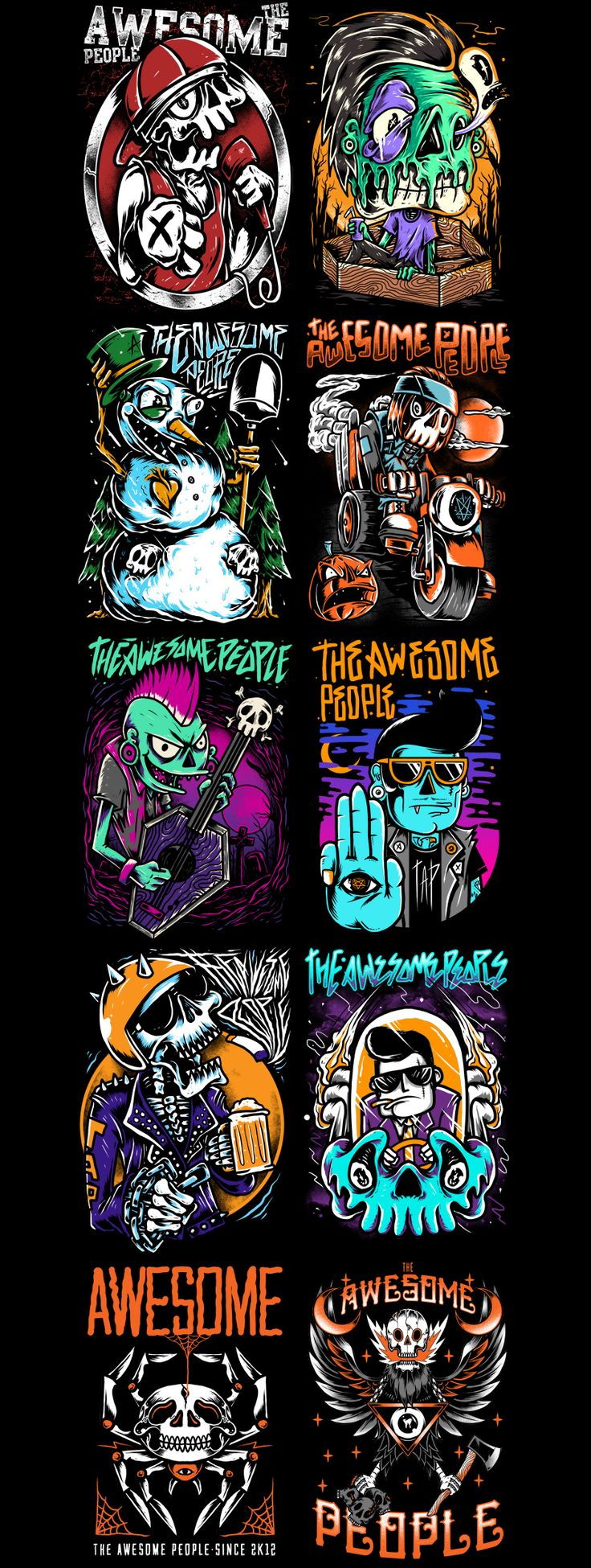 t-shirt illustration vol.1 on Behance