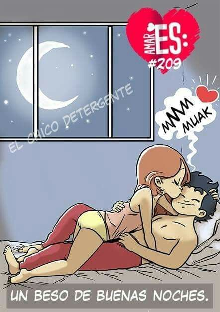 El beso de buenas noches