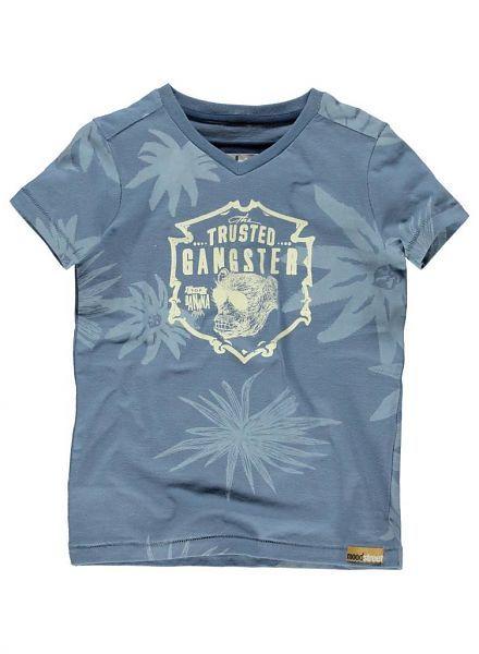 Moodstreet Moodstreet shirt blauw Trusted Gangster