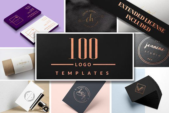 Ichic Premade Logo Templates Pack by IsikChic on @creativemarket