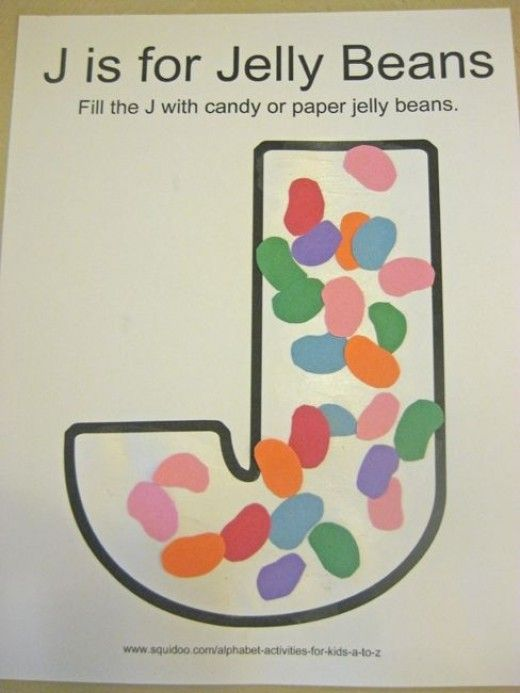 alphabet activities for kids j is for jelly beans