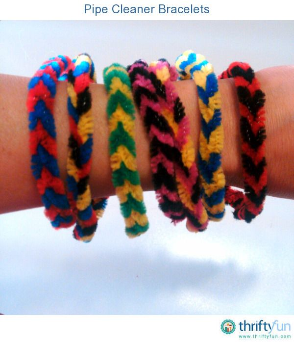 You can make colorful bracelets out of pipe cleaners by braiding them. Make for team colors, holidays, or friendship bracelets.