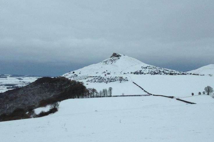 Roseberry Topping, Winter 2013, taken from Guisborough Quarry