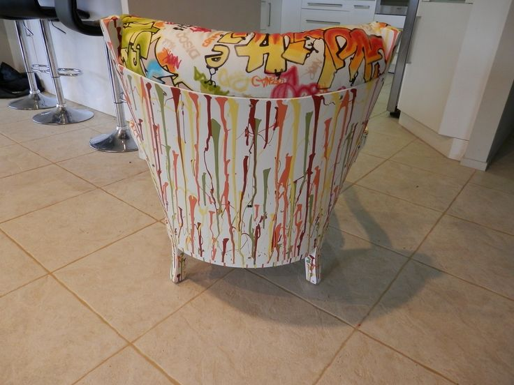 the back of the graffiti chair. Love my paint job.