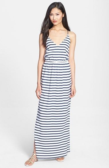Milly Stripe Jersey Maxi Dress on shopstyle.co.uk