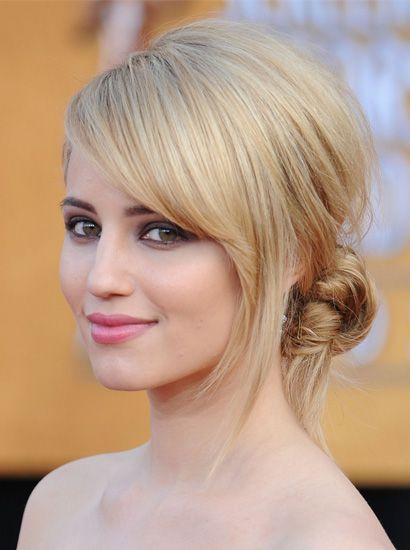 For a sophisticated bride who wants a bit of a twist, Dianna Agron's style is the perfect choice.
