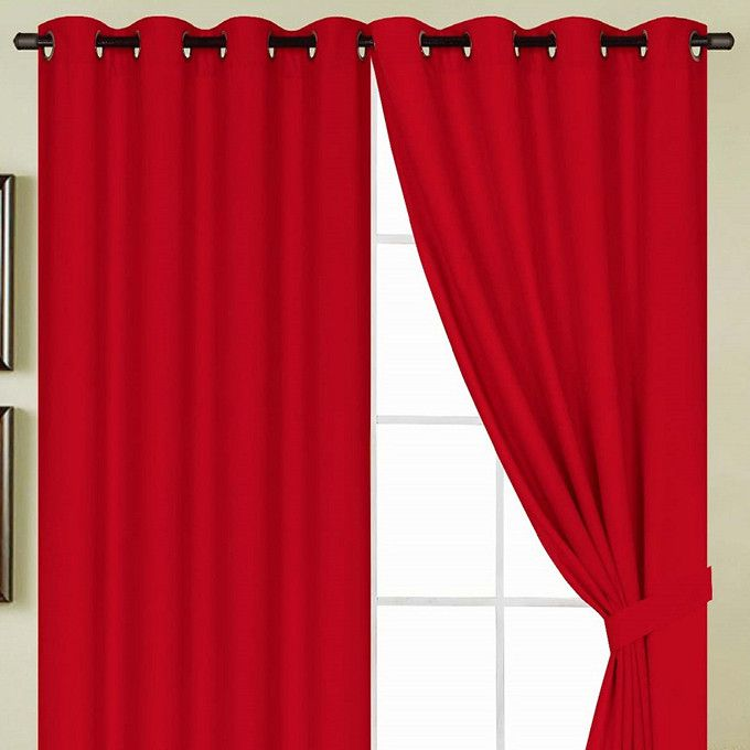 "RT Designers Kennedy Grommet Top Panel 54"" X 84"" Red"