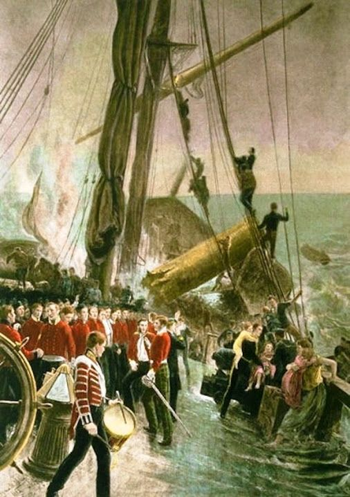 "26 February 1852, HM troop transport ""Birkenhead"" sank in Gansbaai with 643 people on board and the call ""women and children first!"" was used for the first time during a ship disaster."