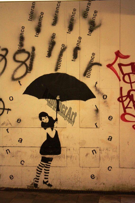 This photo was taken in a subway in Gdansk, Poland-Tolerance Stencil street art (graffiti)