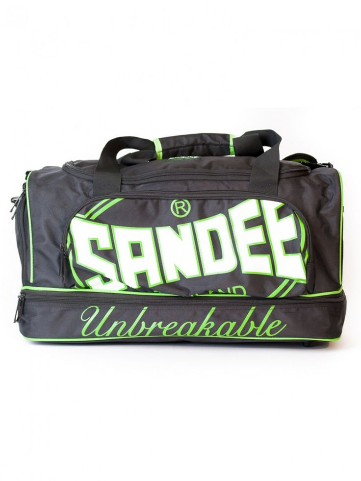 Sandee Heavy-Duty Holdall / Gym Bag - Large - Black & Green