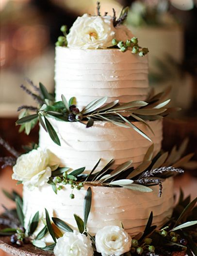 Winter wedding cakes - Bride+Groom - December 2014 - Charlotte, NC