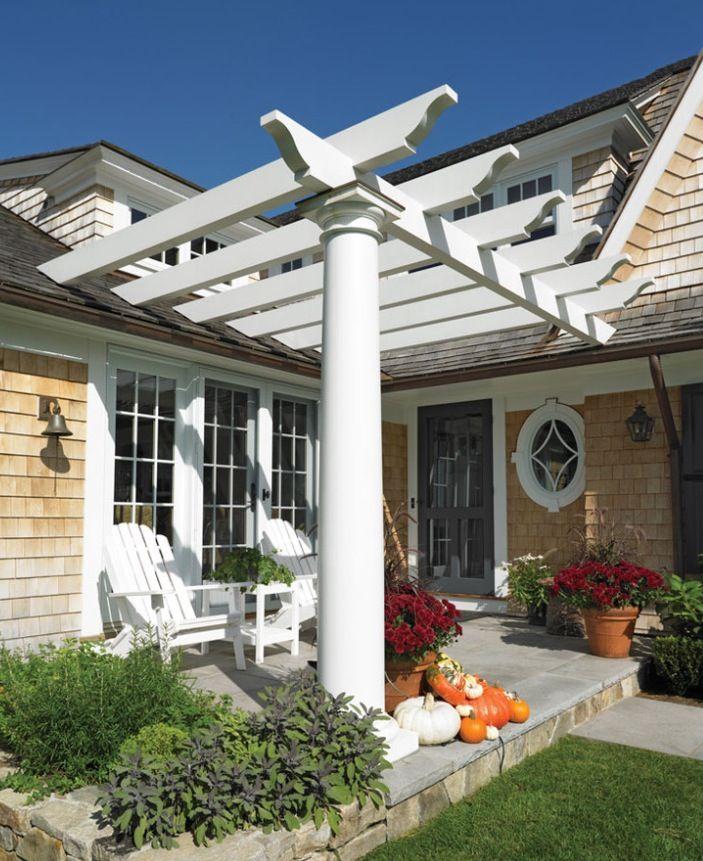 Back Porch Design Ideas: Pergola Designs For Front Of House