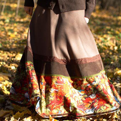 Теплая юба `Шорох листьев`. Теплая осенняя юбка из шерсти, хлопка и вельвета.   Пышная, легкая. Украшена кружевом и бархатными лентами.   Дополнить юбку можно пташками - www.livemaster.ru/item/4533039-ukrasheniya-brosh-zhemchuzhnaya-ptitsa  Возможно сшить юбку в сочетании с…