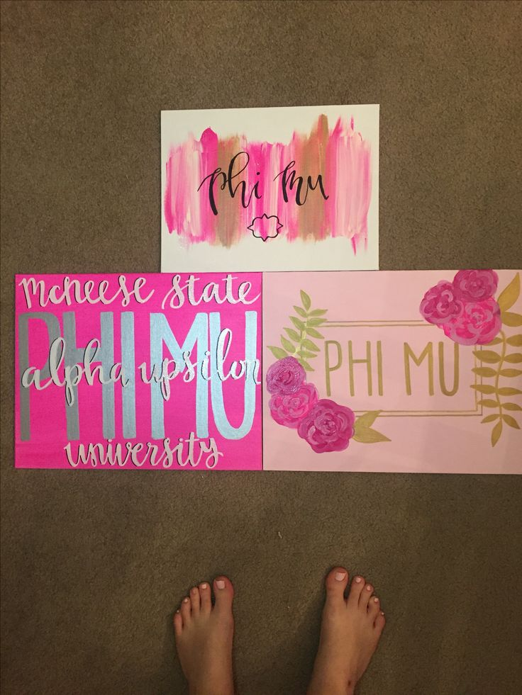 phi mu mcneese state university big little sorority canvases