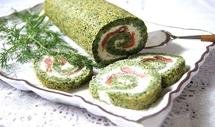 Ruladă de spanac și urzici cu cremă de brânză - un aperitiv ce merită făcut pentru masa de Paști! - Bucatarul.tv