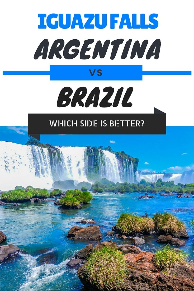 If you're heading to the amazing #IguazuFalls and not sure whether to see from the Brazilian or Argentinian side then please read this post to help your decision. #Brazil #Argentina