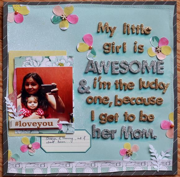 Mother's Day layout. #mothersday #crafting #scrapbooking www2.fiskars.com