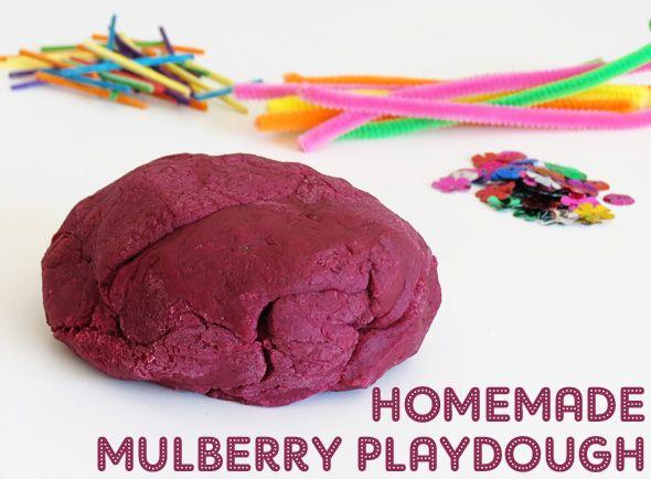 Childhood 101 homemade mulberry playdough recipe