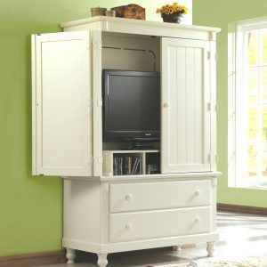 White Tv Cabinet With Doors To Hide Tv