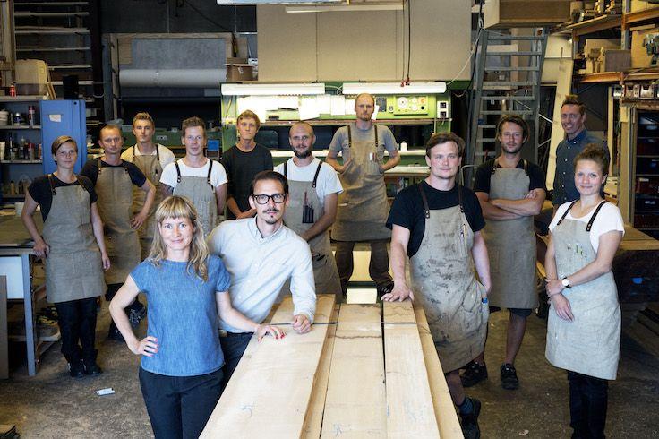 All of us - at the Nicolaj Bo workshop, Copenhagen