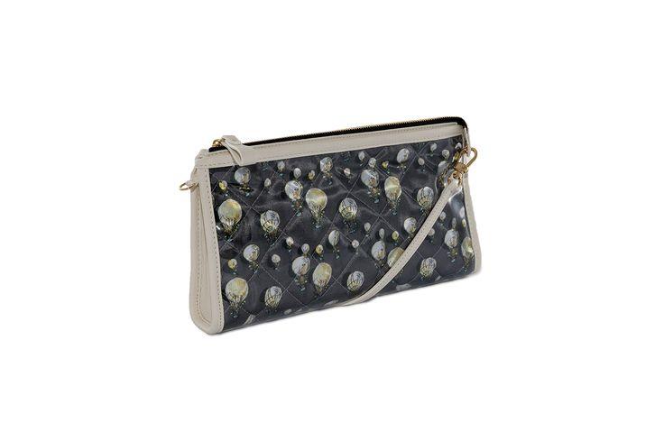 Crystal Clutch Bi-color Anthracite white http://federicalunello.com #federicalunello #bags #accessories #handmade #madeinitaly
