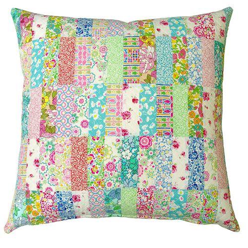 A Liberty Patchwork Pillow