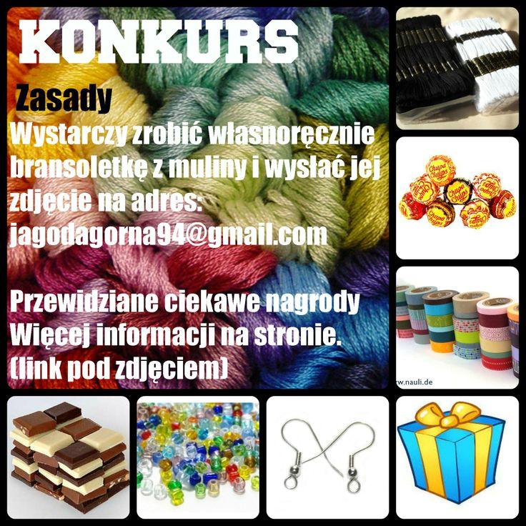 Konkurs, bransoletki z muliny Więcej info na: http://www.jagodagorna.com/konkurs-bransoletkowy-d/